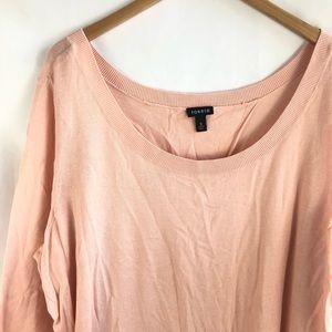 Torrid Blush Split Back Double Layered Sweater Top